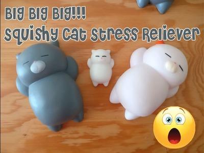 JUMBO squishy Cat stress reliever Neko Kawaii Mochi