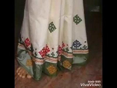 Latest and simple kutch design s on sarees