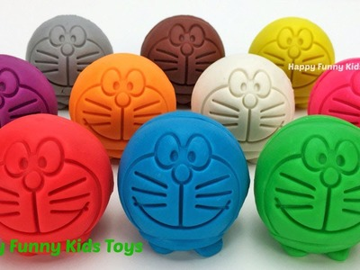 Learn Colors with Play Doh Doraemon Fruits & Vegetables Pineapple Eggplant pomegranate Carrot Molds