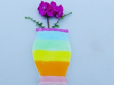 Learn Colours Rainbow Putty Flower Vase Modelling Clay Fun For Kids Video
