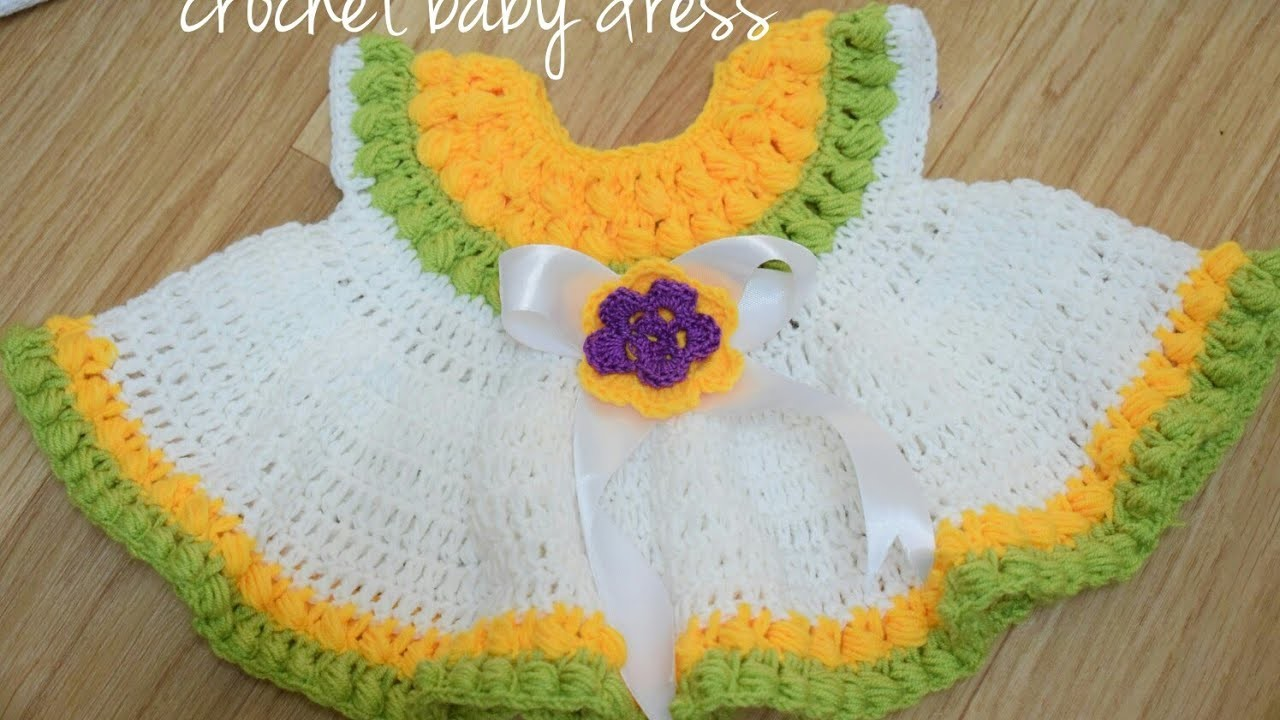 Learn how to make a Crochet baby dress ???? - B