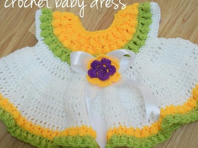 Learn to how to make a Crochet baby dress ???? - C