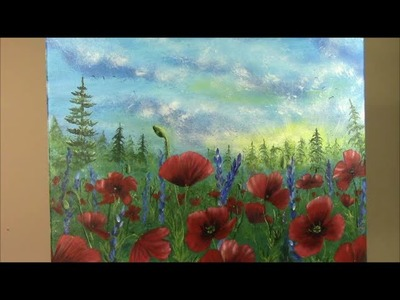 Learn to Paint Poppies Step by Step ~ Painting with Wendy