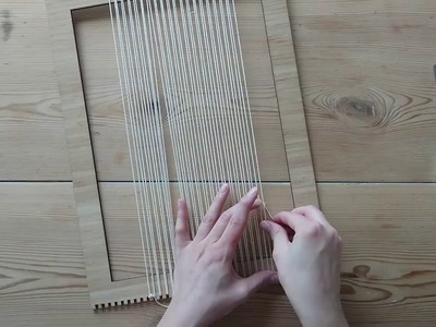 Making a Woven Wall Hanging - Step 1: Warping the Loom - Weaving for Beginners