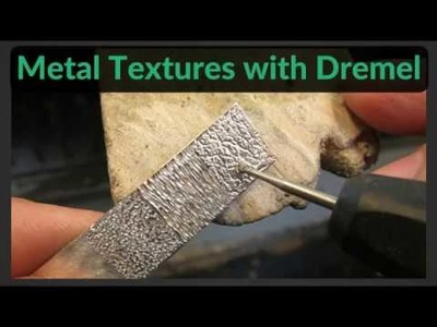 Making Textures in Metal with Dremel. Rotary Tool