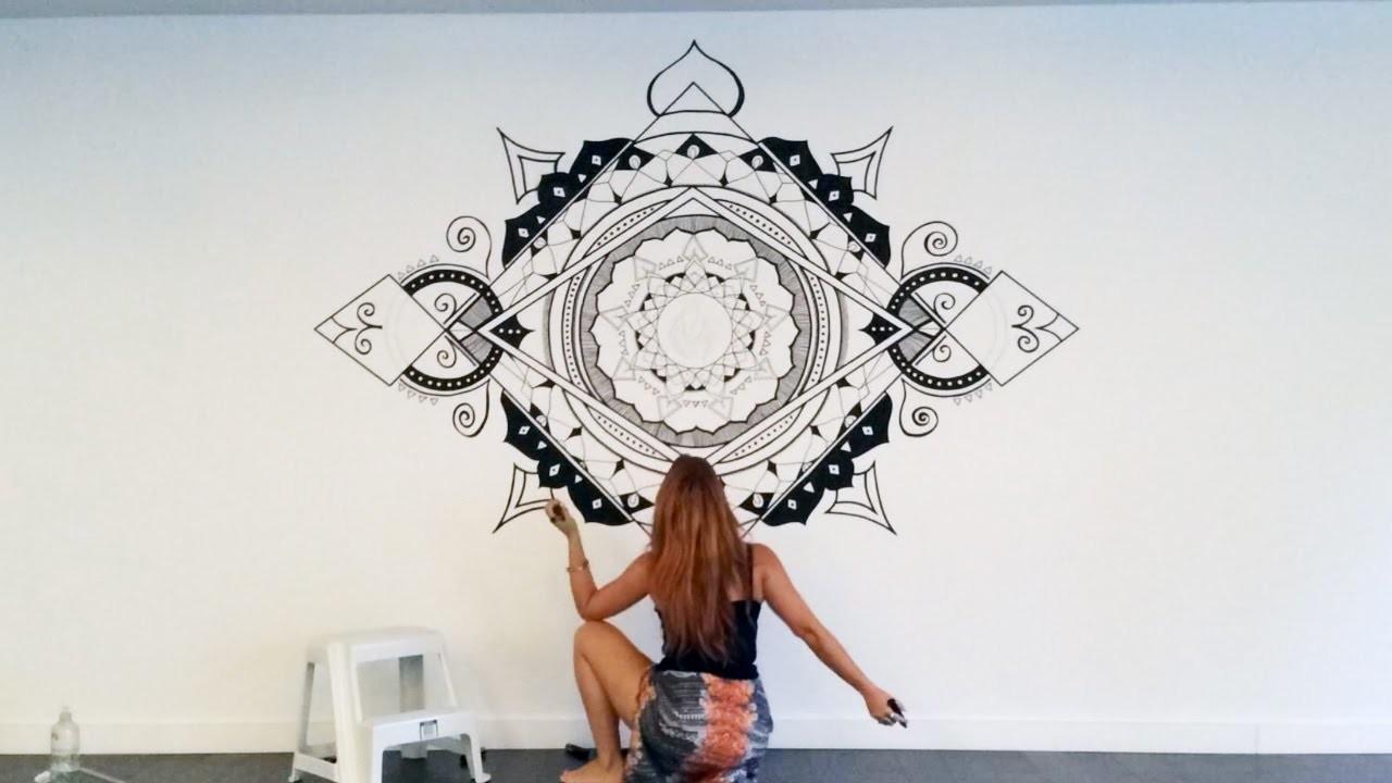 Mandala Wall Art Mural Speed Painting NO STENCILS