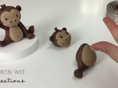 Monkey Figurine Cake Topper with FREE pdf step by step download
