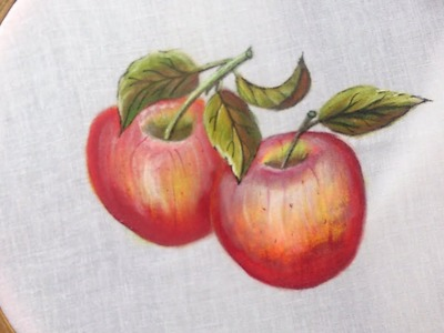 Painting. Fabric painting-  how to paint apples on clothes.