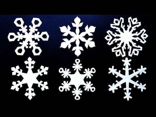 Paper snowflake tutorial v2 - How to make a perfect snowflake - EzyCraft