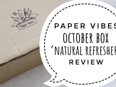 Paper Vibes Stationery Subscription Box - October 2017