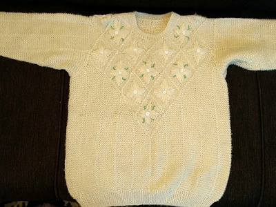 #PART-1 Embroidery with Moti Work Sweater(Hindi):Design-30