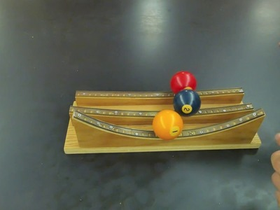 Physics marble track review  part one . Homemade Science with Bruce Yeany