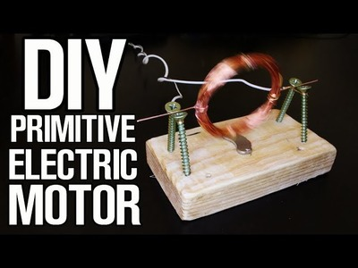 Primitive Electric Motor (how to make at home)