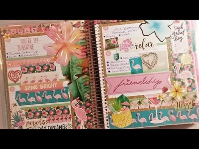 Recollections Horizontal Flip Through & Tips to get started with your new planner  - July 2017