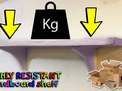 RECYCLED CRAFTS: How to make an HIGHLY RESISTANT cardboard shelf