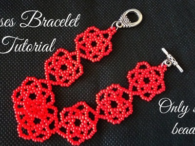 Roses Bracelet Tutorial (only seed beads)