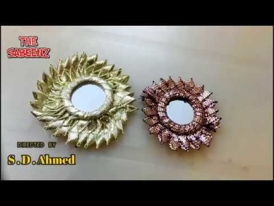 Simple and easy method to make and arrange gota flower with center mirror