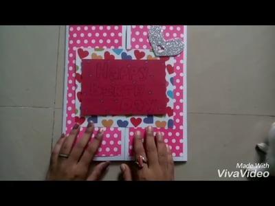 Simple multi folding b. Day card. .