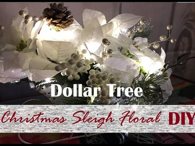 Sleigh Light Up Decor - DIY (Dollar Tree)