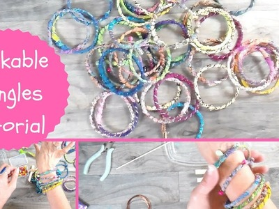 Stackable Bangle Tutorial, Using Your Fabric Scraps, BoHo Accessory,