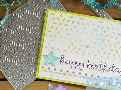 Stenciled Birthday Card | Technique Friday with Els