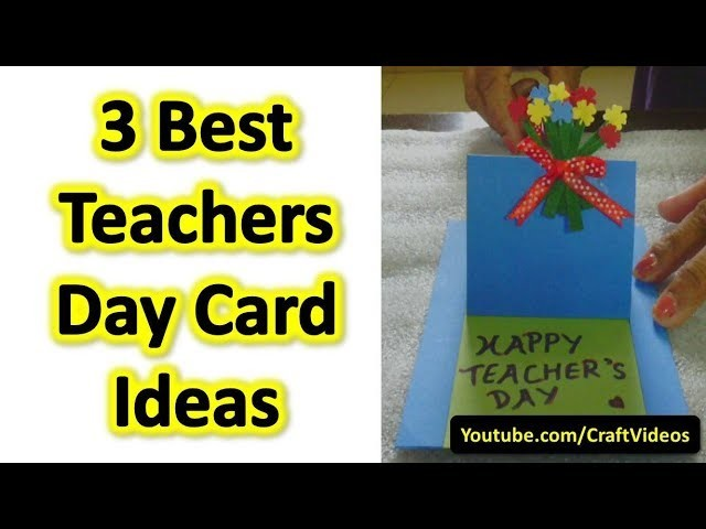 How to make teachers day greeting card easy