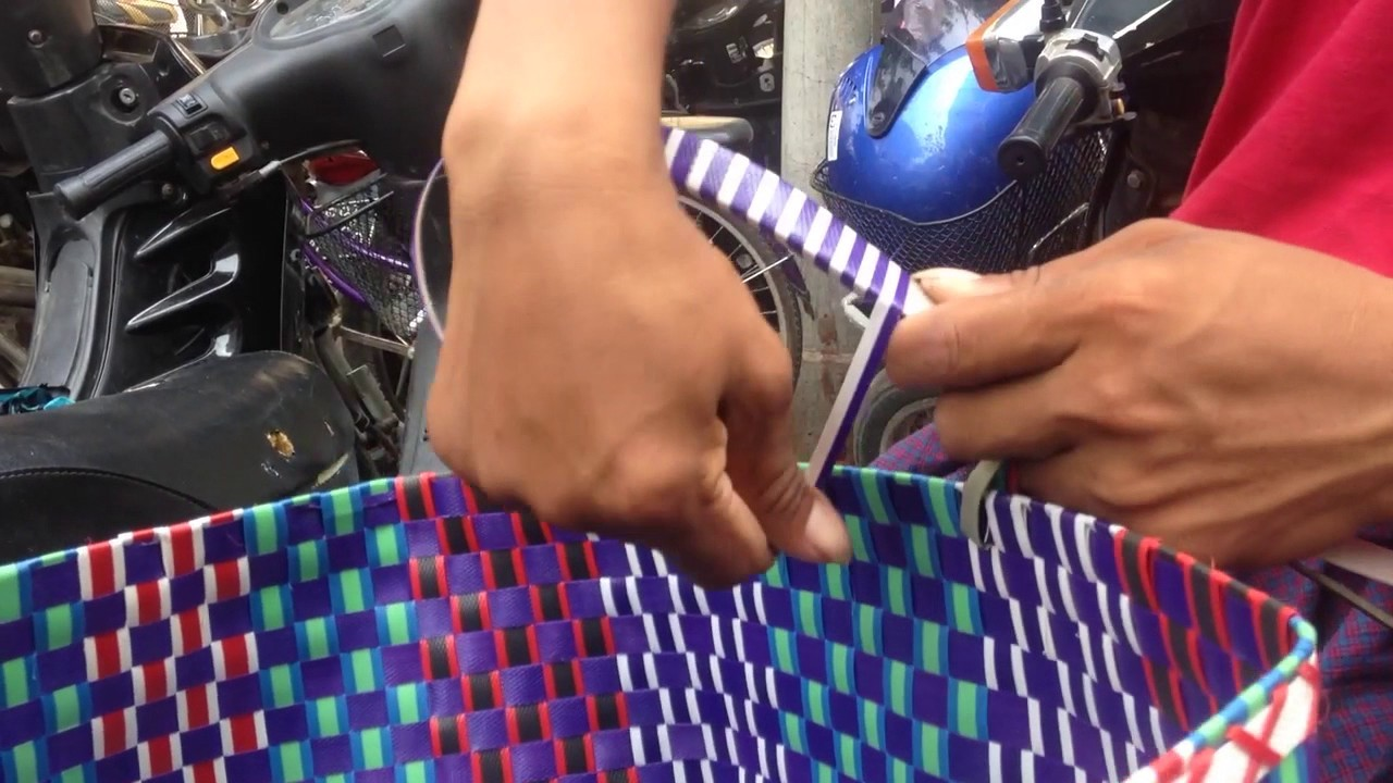 TEASER:  Myanmar Basket weaving,.  from old recycled plastic and car tyres