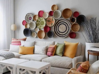 Top 40 Best Wall Decoration Ideas   DIY Painting With Paper For Party With Cardboard Lights 2018
