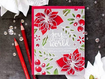 Yippee for Yana: Joy To The World Card - Pencil Coloring Over White Heat Embossing