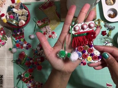#1 Christmas Series 2017 ???????? Ugly Christmas Stocking Embellishments or DIY Ornaments