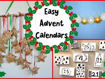 3 Simple DIY Advent Calendars to get you Hyped for Christmas
