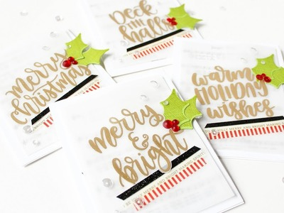 Christmas Carol Cards - How To Make A Quick And Easy Holiday Card