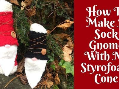 Christmas Crafts: How To Make A Sock Gnome (No Styrofoam Cone Needed!)