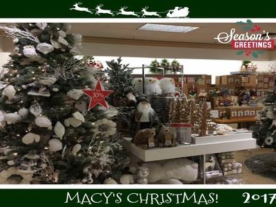 Christmas Decor Shopping At Macy's!  2017