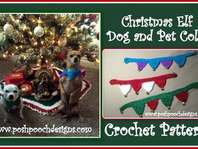 Christmas Elf Dog Collar Crochet Pattern