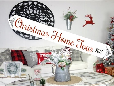 CHRISTMAS HOME TOUR 2017 | FARMHOUSE STYLE DIY DECOR | Momma From Scratch