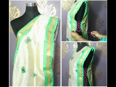 Convert your old Duppata into a layer kurti (DIY)