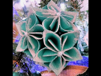 Day 22 ~ 50 Christmas Crafts in 50 Days ~ How to Make a Paper Flowers Christmas Tree Ornament 2017