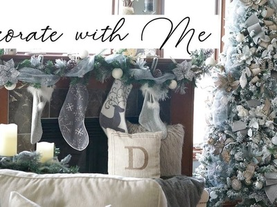 Decorate With Me: Christmas Tree - How to make it look FULL! (Pale Rustic Glam)