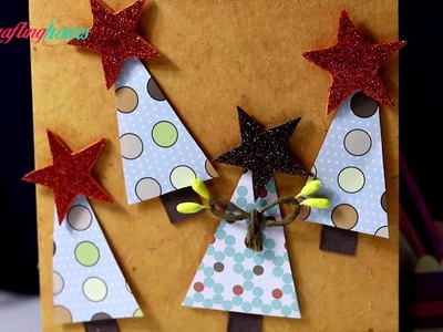 DIY Christmas Card Idea with Christmas Tree - Very Easy & Quick