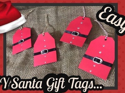 DIY EASY Santa Gift tags using Dollar Tree items. .