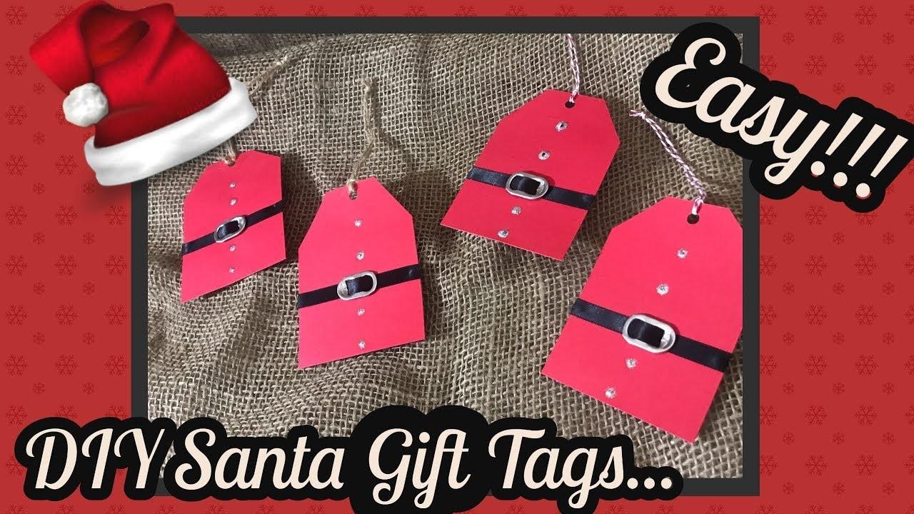 DIY EASY Santa Gift tags using Dollar Tree items. .