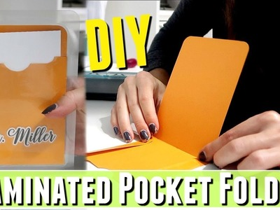 DIY Personal Pocket Folder Tutorial and HOW TO make a laminated library pocket