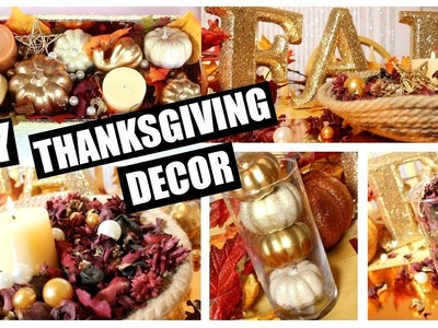 DIY Thanksgiving & Fall Decor   Epic Centerpiece, Candle Holders, Personalized Glasses & More!