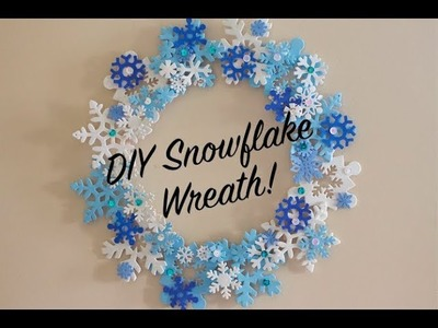 Dollar Store DIY Ep. 35 - How To Make a Snowflake Wreath