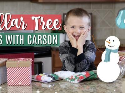 DOLLAR TREE CHRISTMAS DIYS WITH CARSON ⛄️???? Easy snowmen ornaments for kids!