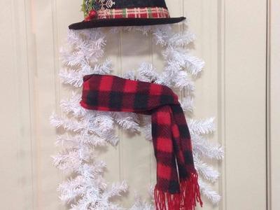 ⛄️⛄️Dollar Tree Snowman Wreath DIY⛄️⛄️