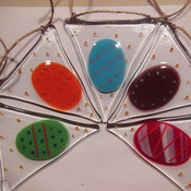 Easter-egg-bunting-in-fused-glass-hang-fireplace-window-bedroom-outside-MADE TO ORDER