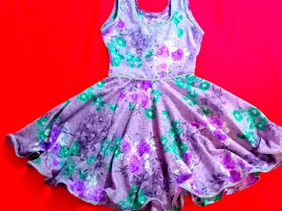 Easy baby circle dress cutting and stitching