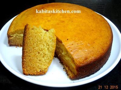 Eggless Sponge  Cake Recipe-How to Make Perfect Basic Sponge Cake-Vanilla Sponge Cake-Eggless Cake